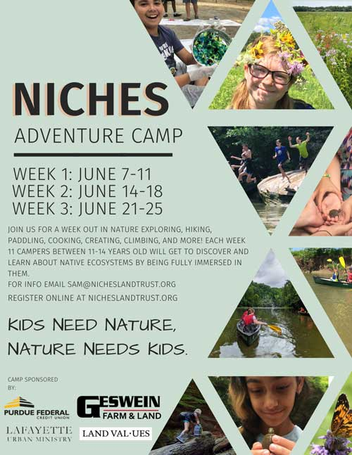Flyer of the 2021 Summer Camp with NICHES Land Trust